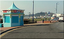 ST1166 : Ice cream kiosk at the eastern end of Friars Road, Barry Island by Jaggery