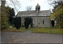 ST8080 : South side of St. Mary's church, Acton Turville by Jaggery
