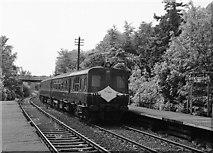 J4681 : Bangor bound train at Crawfordsburn station - 1983 by The Carlisle Kid