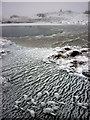 NY3908 : Frozen tarn, summit of Red Screes by Karl and Ali