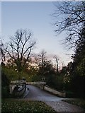TQ2077 : The Palladian Bridge, Chiswick House Gardens, at dusk by Stefan Czapski