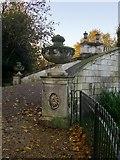 TQ2077 : The Palladian Bridge, Chiswick House Gardens: detail by Stefan Czapski