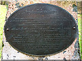 NY3704 : 'Turning Point' dedication plaque, Rothay Park by Karl and Ali