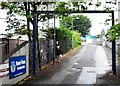 O1637 : The entrance to the grounds of Home Farm FC, Drumcondra by Eric Jones