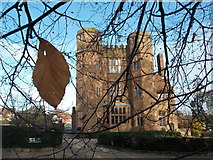 SP2772 : Kenilworth: the castle gatehouse from under a tree by Chris Downer