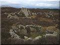 SD3191 : Arnsbarrow Hill, fold and summit rocks by Karl and Ali