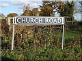 TM2692 : Church Road sign by Adrian Cable