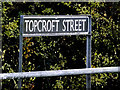 TM2692 : Topcroft Street sign by Adrian Cable