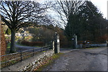 SD9771 : Entrance to Scargill House on Conistone Lane by Ian S