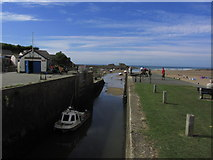 SS2006 : Lock at sea ward end of Bude Canal, Bude by Colin Park