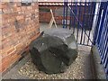 TF3287 : Bluestone erratic outside Louth Museum by Colin Park