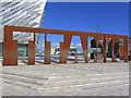 J3575 : 'Titanic' name in steel, Titanic Museum, Belfast by Colin Park