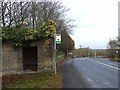 NZ2177 : Bus shelter, North Lodge, Blagdon Hall by Oliver Dixon