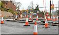 J3683 : Road construction, Jordanstown (4) by Albert Bridge