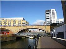 TQ3681 : Limehouse, bridges by Mike Faherty