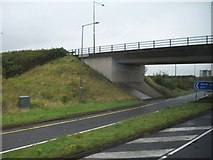O1566 : Bridge carrying the Gormanstown Road over the M1 at Junction 7 by Eric Jones