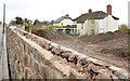 J3784 : New wall and vacant house, Jordanstown by Albert Bridge