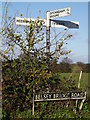 TM3392 : Roadsign on Belsey Bridge Road by Adrian Cable