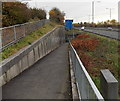 SS7097 : Path at the edge of the M4 motorway, Llansamlet Swansea by Jaggery