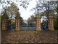 TQ3583 : Bonner Gate - the entrance to Victoria Park by Marathon