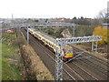 NT2071 : Train heading for Edinburgh by M J Richardson