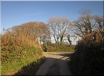 SX3158 : Junction near Bake by Derek Harper