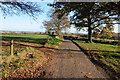 SO6860 : Country road near Harpley House by Philip Halling