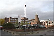 SK3487 : Cementation Furnace (and HSBC Office Block), Doncaster Street, Shalesmoor, Sheffield - 3 by Terry Robinson