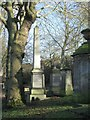 SP0588 : Key Hill Cemetery, Hockley: trees and memorials, upper area by Robin Stott