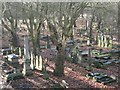 SP0588 : Key Hill Cemetery, Hockley: view southwest across the lower area by Robin Stott