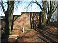 SP0588 : Key Hill Cemetery, Hockley: boundary wall to Cemetery Lane by Robin Stott