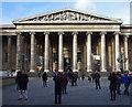TQ3081 : Posing tourists, British Museum by Julian Osley