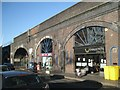 SP0687 : Businesses in the railway arches beneath Snow Hill station by Robin Stott