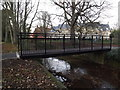 TM3877 : Bridge over New Reach in Town Park by Adrian Cable