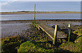 SD4557 : Wooden jetty, Lune estuary by Ian Taylor