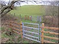 NT5668 : Gates near Danskine by Richard Webb