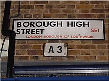TQ3279 : Pre-Worboys road number on Borough High Street by David Howard