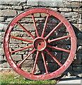 HY3219 : Wagon wheel, Corrigall Farm Museum by David Hawgood
