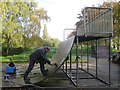 SP2965 : Repairs to the skate park, St Nicholas Park by Robin Stott