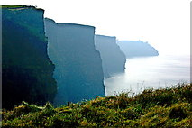 R0491 : Cliffs of Moher - View of cliffs from view point by Joseph Mischyshyn