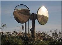 SX3257 : Dual traffic mirrors, South Bake by Derek Harper