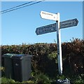 SS6918 : Signpost at Lightleigh Cross by David Smith