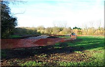 SO8475 : Construction of extension to Spennells Valley Nature Reserve, Spennells, Kidderminster by P L Chadwick