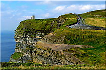 R0392 : Cliffs of Moher - Former Observation Ledge, Northwestern Path with Steps, O'Briens Tower by Joseph Mischyshyn