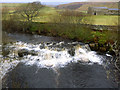 NY8701 : Rumble Pool Falls on the Upper Swale - low water by Andy Waddington