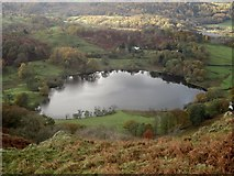 NY3404 : Loughrigg Tarn from the upper slopes of Loughrigg Fell by Graham Robson