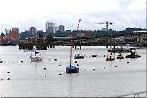 TQ3979 : Moorings on the River Thames by Steve Daniels