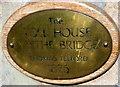 SO8833 : Nameplate on the former Mythe Bridge Toll House near Tewkesbury by Jaggery