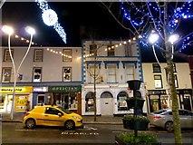 H4572 : Festive lights, High Street, Omagh by Kenneth  Allen