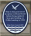 TA1180 : Plaque on the Promenade, Filey by Christopher Hall